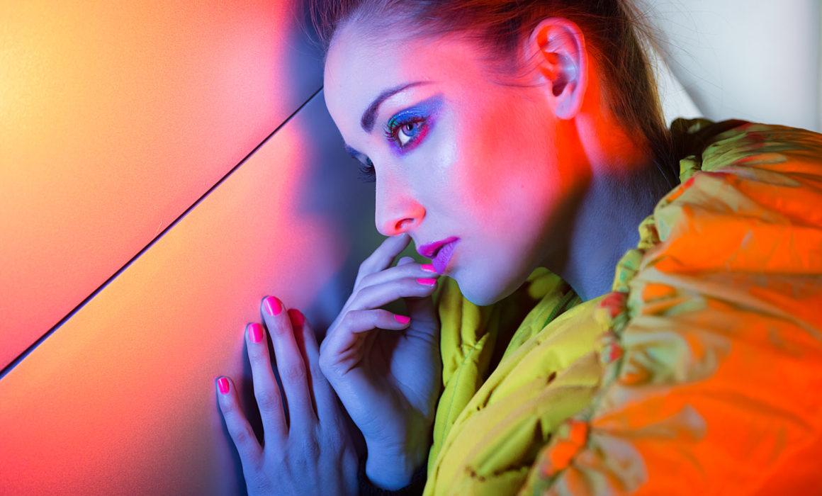 Neon Lights Fashion Shoot Shanghai Los Angeles Editorial Print Hair and Make Up Artist