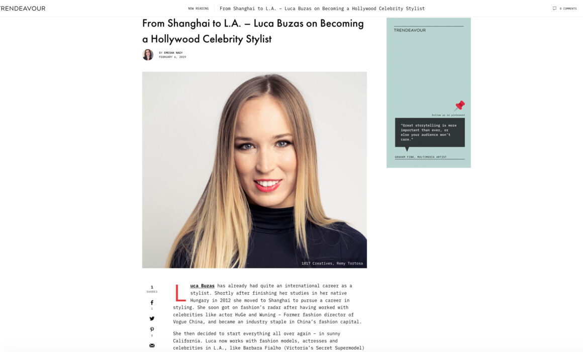 Los Angeles Celebrity Stylist | Trendeavour Interview